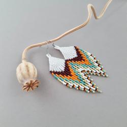 kolczyki indiańskie, - Kolczyki - Biżuteria