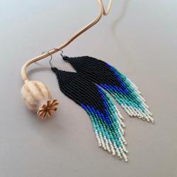 kolczyki cieniowane,indiańskie - Kolczyki - Biżuteria